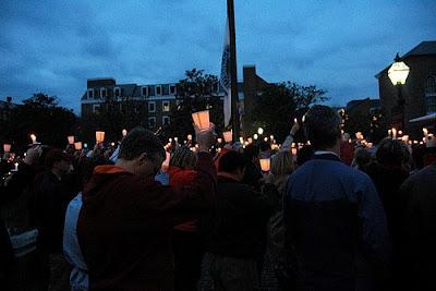 candlelight vigil by Ellen