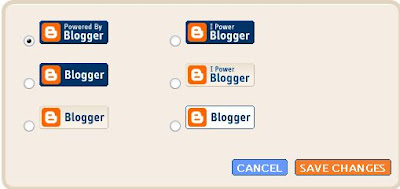 New Blogger choose logo pop-up