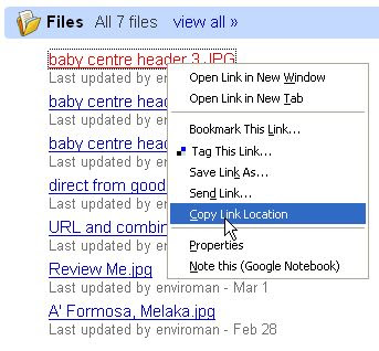 Google Group - photo URL