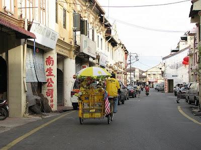 Malacca trishaw in Chinatown