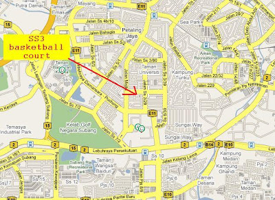 faraway SS3 Petaling Jaya location map