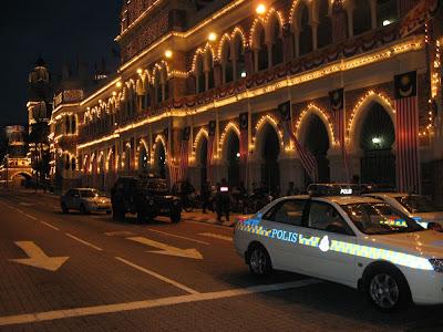 Sultan Abdul Samad Building in Dataran Merdeka Kuala Lumpur night scene