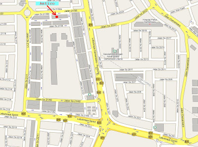 location map Damansara Utama Uptown Petaling Jaya