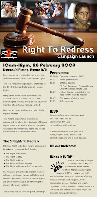 poster Right to Redress Campaign Launch