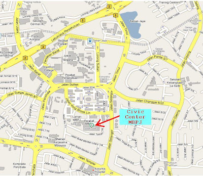 location map MBPJ Dewan Sivik