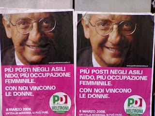 walter veltroni,affiche des élections italiennes, rome, rome en images, italie