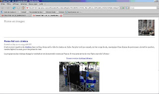 abonnement par email à rome en images