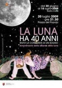 40 ans de la lune à rome piazza del popolo