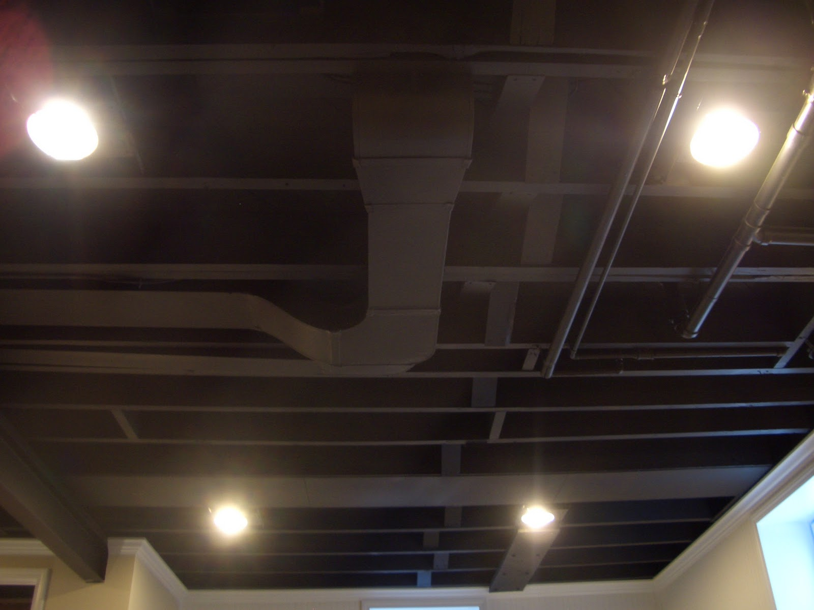 Impressive Unfinished Basement Ceiling Black 1600 x 1200 · 120 kB · jpeg