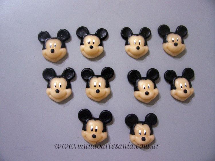 ... en Porcelana Fria, Adornos, Regalos, Souvenirs: Mini apliques Mickey