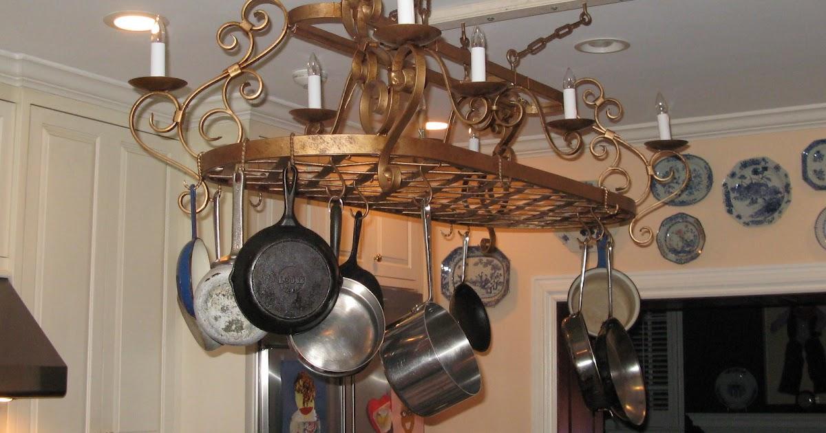 Blacksmith Blogger: Custom Pot Rack Chandelier