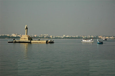 Hussain Sagar Lake in day