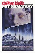 Afiche de la película, Cementerio de Animales, basada en la obra de Stephen King