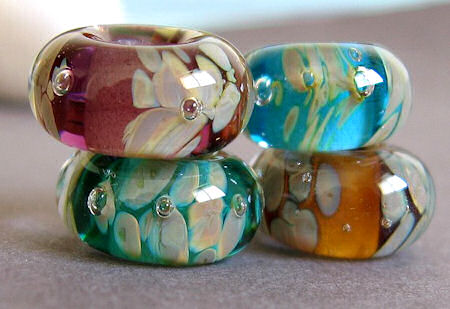 lampwork glass beads fits pandora bracelets and jewelry