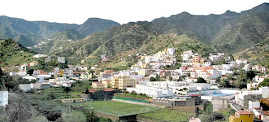 Vista de la ciudad de Vallehermoso