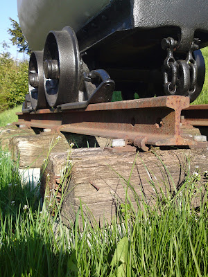 coal wagon, grass, 