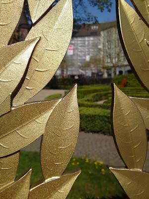 garden, leaves,