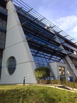 campus, glass façade, the office