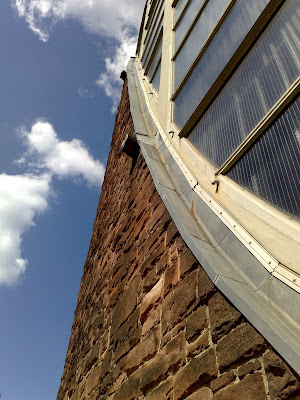 brick, church, sky, window