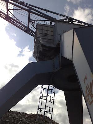 old crane, sky