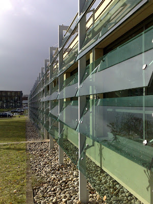 glass façade,  sport school