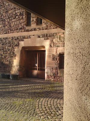 red sandstone, concrete, rathaus,