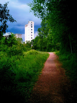 path, silo,