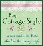 Etsy cottage style blog button