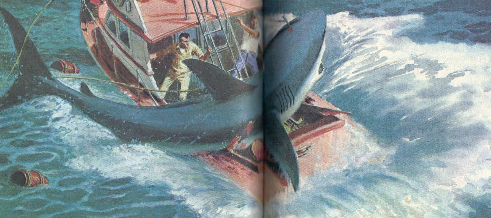 Jaws Book Cover Art ~ Years of fear bicycle jaws playing card deck by scott king
