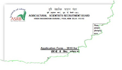 ASRB ICAR Scientist Recruitment Application Form