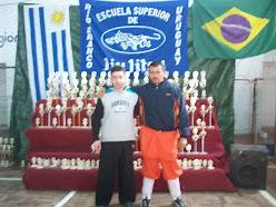 Shifu Bogado y Prof Alejandro Nuñez