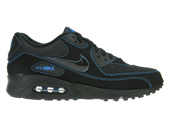 bama kicks nike air max 90 � black � blue