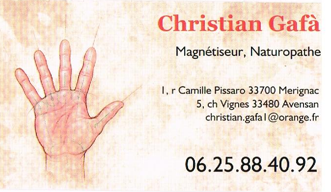 MAGNETISEUR CHRISTIAN GAFA MAGNETISME