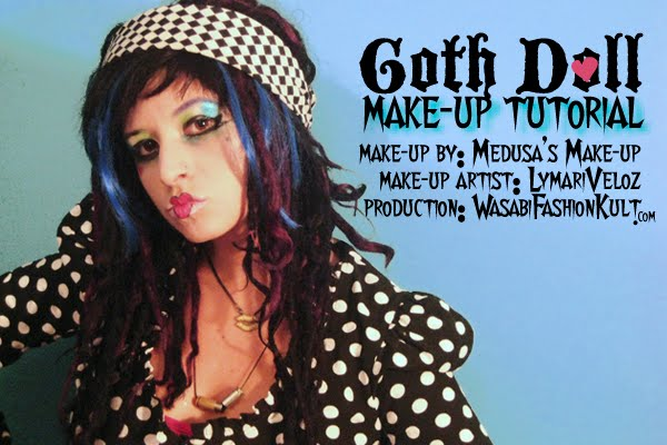 harajuku makeup tutorial. Goth Doll Make-up Tutorial