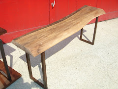 Walnut & Steel Bench
