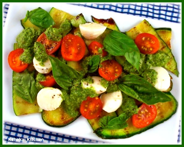 Grilled Zucchini And Grape Tomato Salad Recipe — Dishmaps