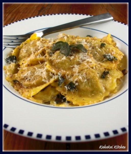 ... : Giada's Brown Butter Sauce with Mushroom Ravioli--Making it Simple