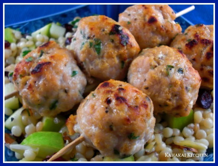 Turkey Meatballs and Israeli Couscous with Apples, Cranberries & Herbs ...