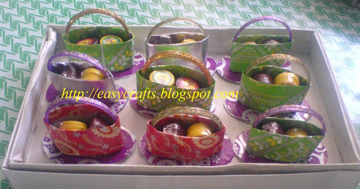 Easy crafts explore your creativity valaikappu for Baby shower function decoration