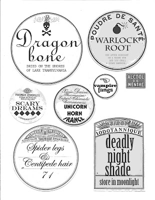 scary bottle labels - halloween decorations; halloween printable ...