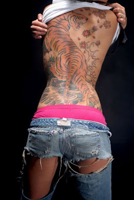 japanese tattoos tiger for women