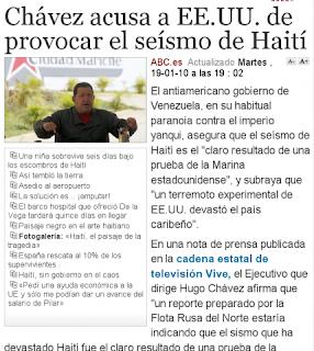 une du site espagnol abc.es, le 19 janvier 2010