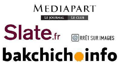 logos de mediapart arret sur image bakchich slate