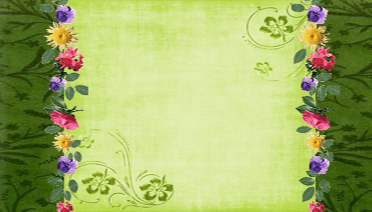 Cabecera y Fondo Verde de Flores
