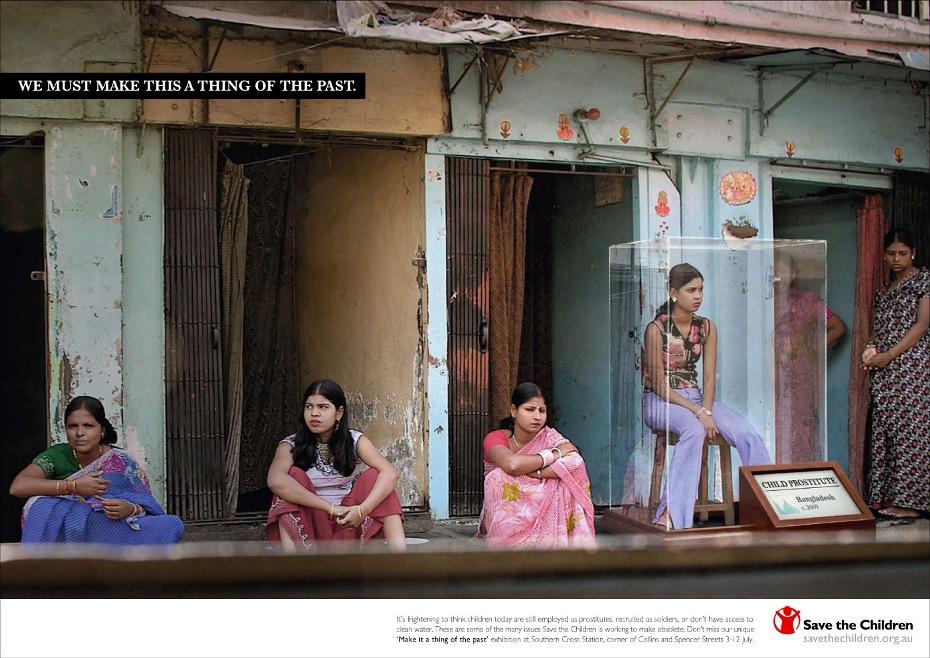 """Anuncio de """"Save the Children"""" contra la Prostitución de menores, infamia creciente del siglo XXI."""