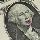 Brincando com notas de 1 dólar
