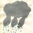 Fazendo chuva com as mãos