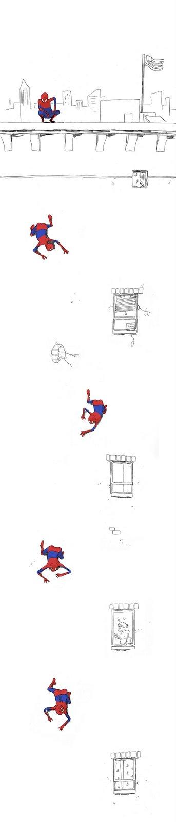 Homem-aranha também erra