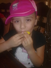 Nevaeh enjoying a lemon