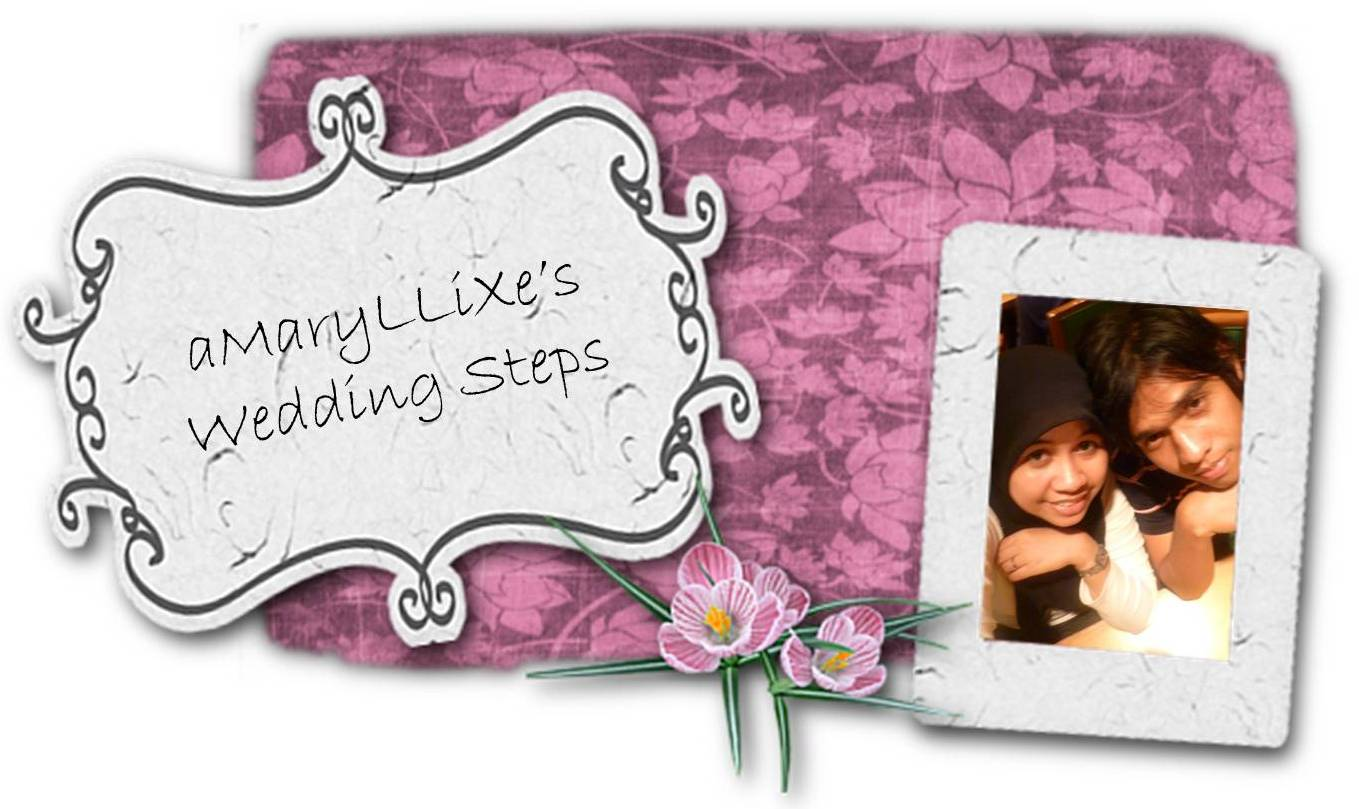 aMaryLLiXe's Wedding Steps